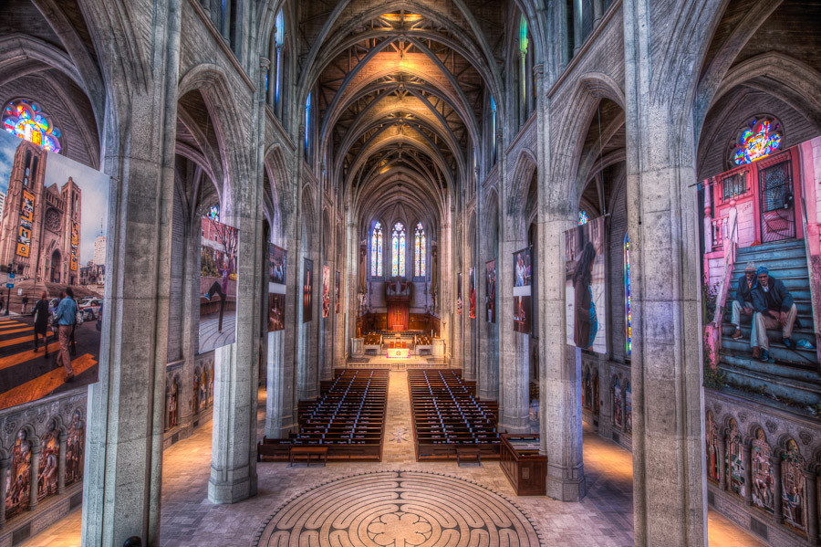 Nave Grace Cathedral San Francisco  Dave Wilson Photography