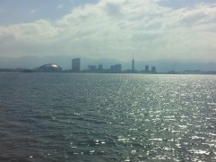 A view of Fukuoka from the JR Beetle