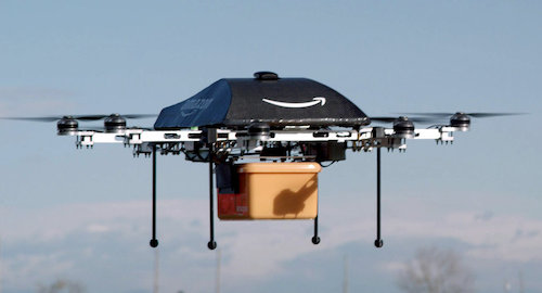 Amazon drones to deliver packages