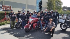 Picking up our bikes at EagleRider HQ in LA