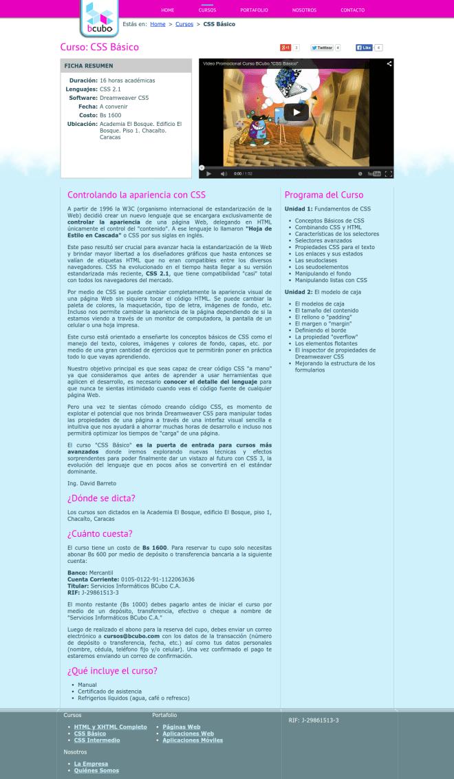 Cursos de Programación y Diseño Web   CSS Básico    BCubo