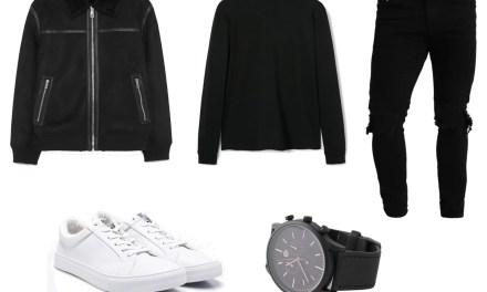 Zestaw #8: Kurtka z baranka + czarne ripped jeans