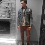 Lookbook #8: Katana jeansowa + brązowe joggery