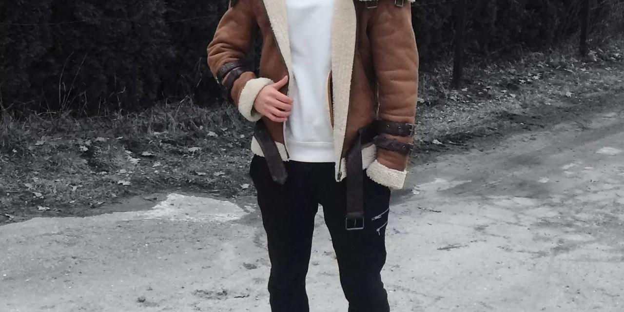 Lookbook #12: Skórzana kurtka Bane'a + biała bluza