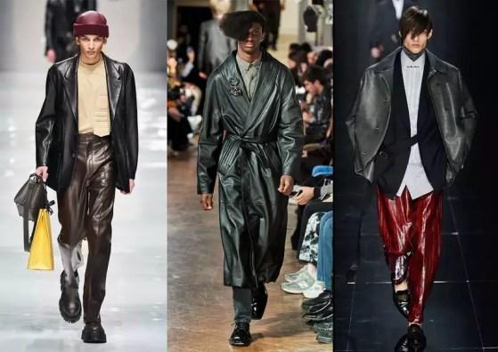 skóra moda męska 2021