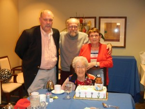 90th Birthday Celebration: Bruce, David, Connie, and Mom