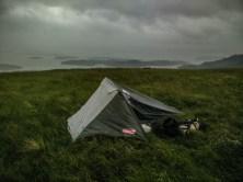 Nuit difficile en haut d'une colline des Trossachs, en Écosse.