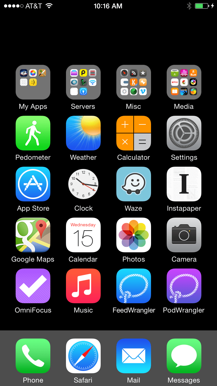 invisible ios home screen