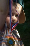 Duncan with medal