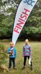 Emma and Duncan at the finish