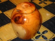 Yew bowl with lid