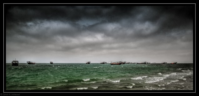 Dhows & storm clouds