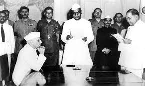 Nehru with Ambdekar