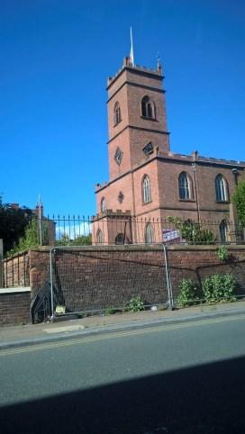 2017 St.Mary's Edge Hill flag at half mast for Alan Godson
