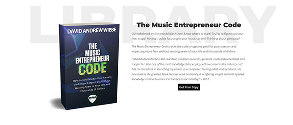 Music Entrepreneur HQ featured book