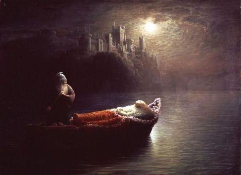 """Pintura """"A Morte de Elaine"""", do canadense Homer Watson"""