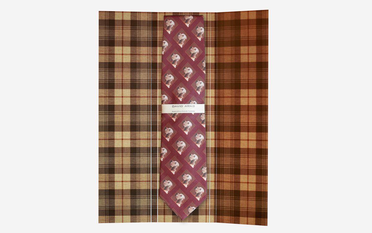 dog necktie burgundy