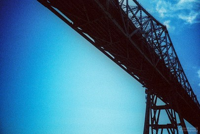 Richmond Bridge From the Vallejo Ferry. (Kodak Ektachrome 64 Tungsten film, process C-41.)