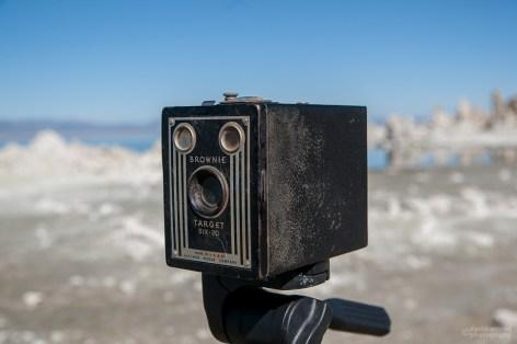 The Kodak Brownie Target Six-20 at Mono Lake California