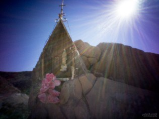 Road Shrine Near San Miguel de Commodu, Baja California Sur, Mexico