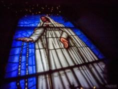 Stained Glass Window, Misión de Nuestra Señora del Pilar de La Paz Airapí, La Paz, Baja Calfornia Sur, Mexico
