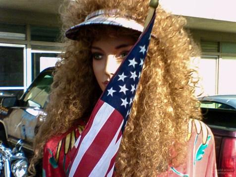 Flag Waving Mannequin, Highway 20, Marysville, California