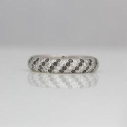 pave set diamond platinum ring