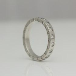 modern platinum diamond eternity ring
