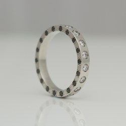 diamonds on all sides eternity ring