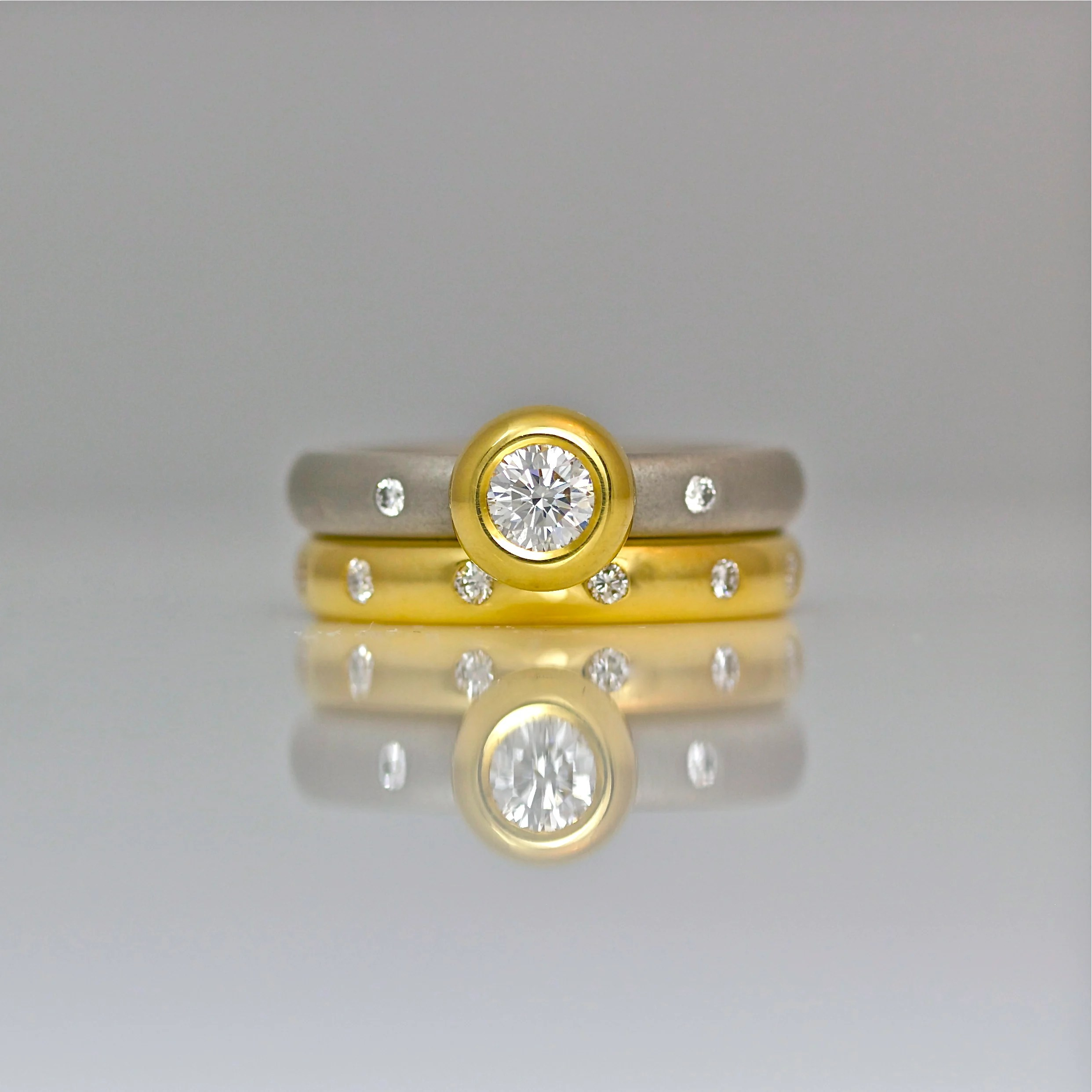 diamond yellow jewelers round ring gold img modern engagement unique craft revival wedding rings