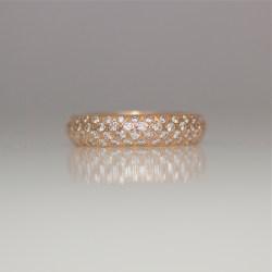 pave' set rose gold ring
