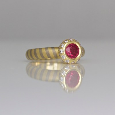 Ruby diamond engagement ring