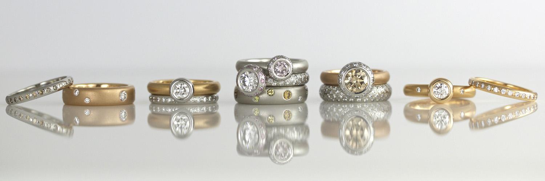 David Ashton Rose Gold Rings