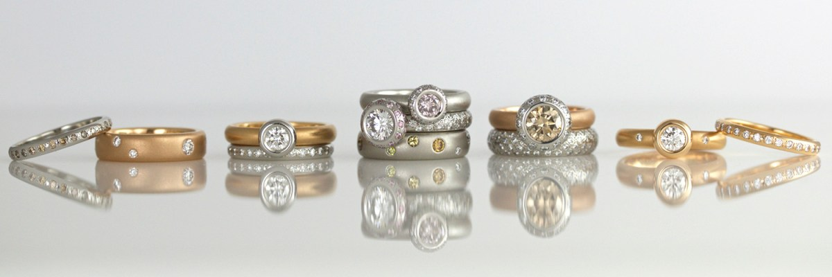 David Ashton Rose Gold Rings