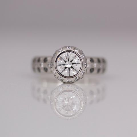 Perfect Diamond Solitaire with black diamonds