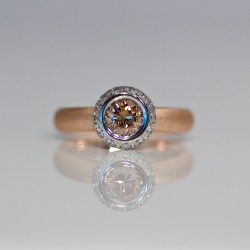contemporary pink diamond engagement ring