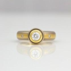 diamond rub-over set ring