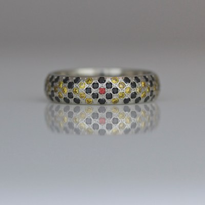 snake pattern diamond ring
