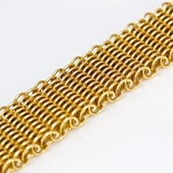 contemporary handmade 18ct gold bangle