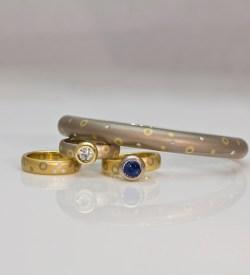 contemporary hinged bangle with diamonds