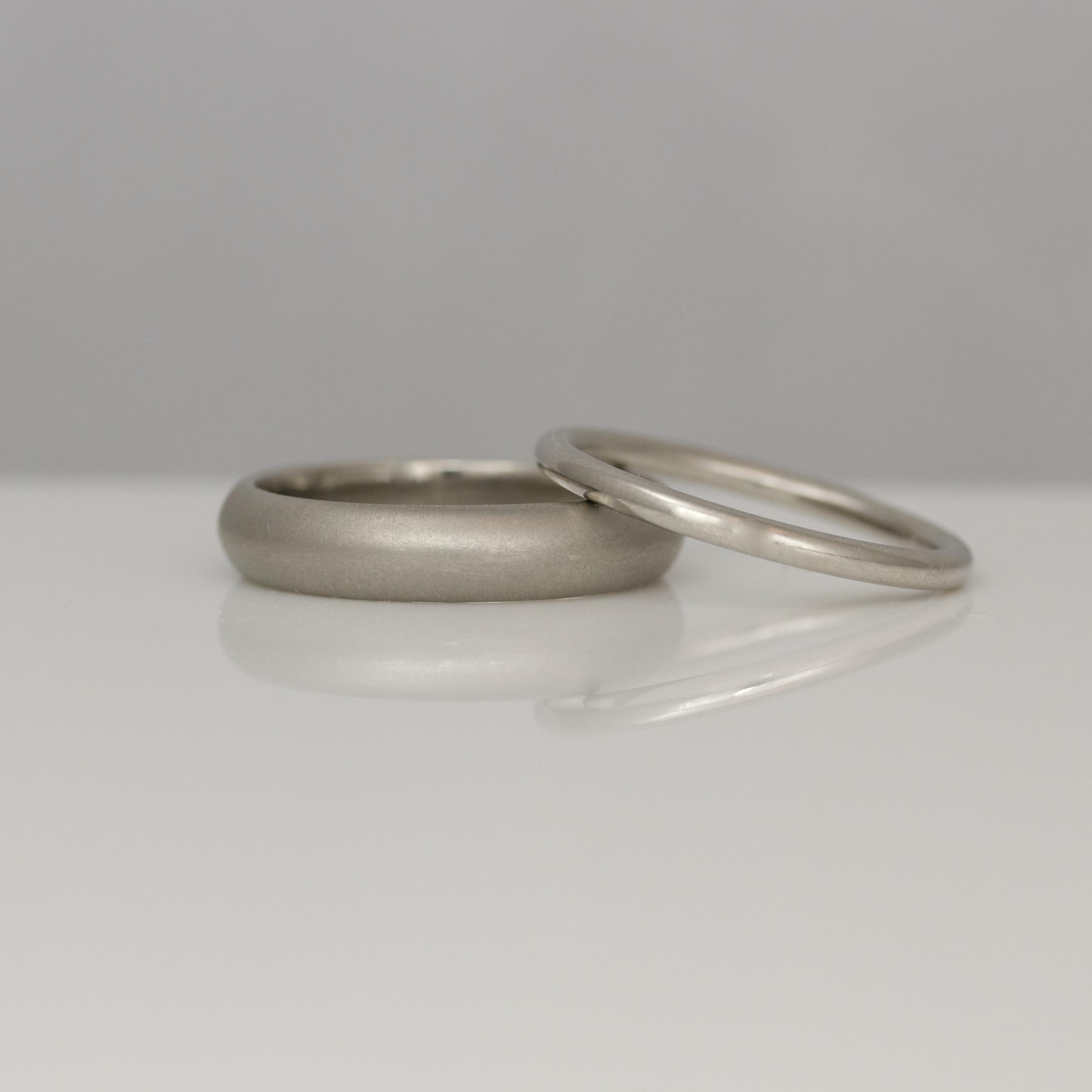 23ffffc5e71db Platinum handmade wedding rings