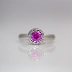 pink sapphire diamond ring