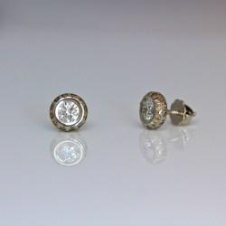 diamond platinum ear-studs