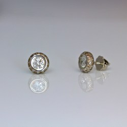 diamond platinum ear-studs