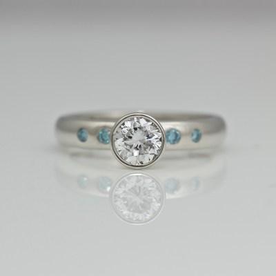 Perfect diamond platinum engagement ring