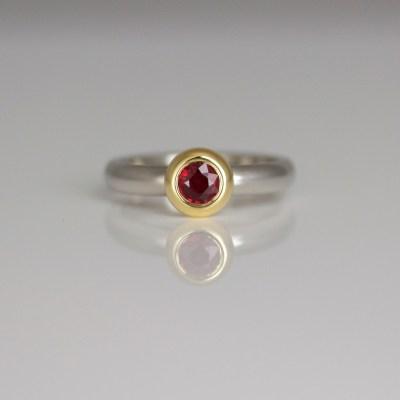 modern ruby ring