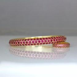 Burmese ruby bangle