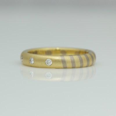 bespoke mixed gold wedding ring