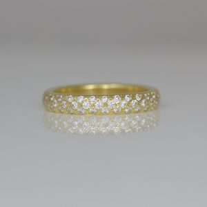 Modern diamond eternity ring 0968 David Ashton