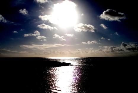 Blue sun setting at Kaiwela